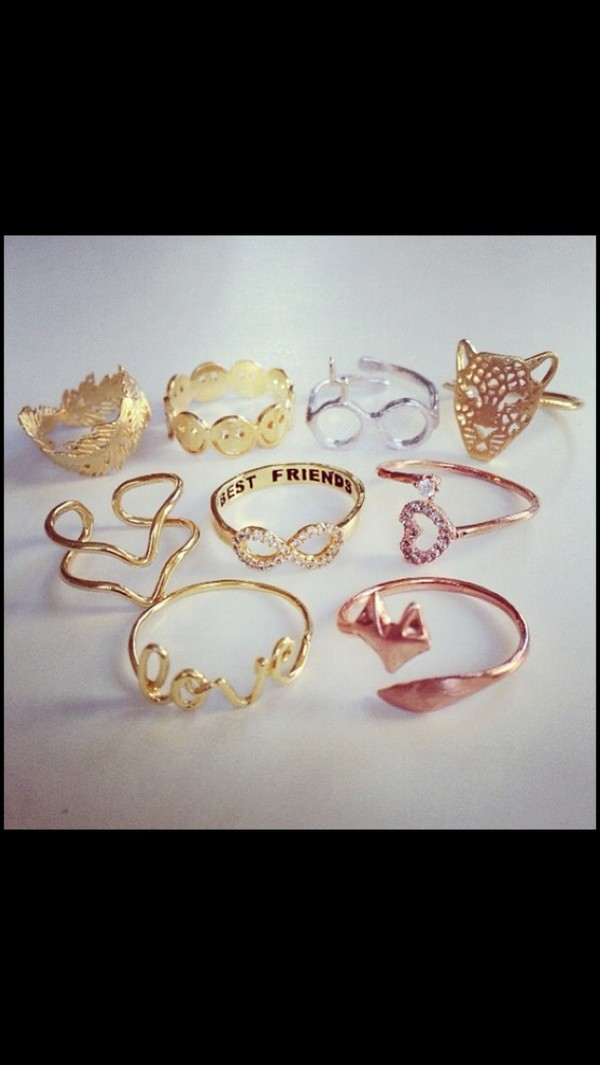 jewels gold ring ring crown vintage