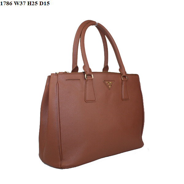Prada Saffiano Leather Classic Tote Bag BN1786 Brown
