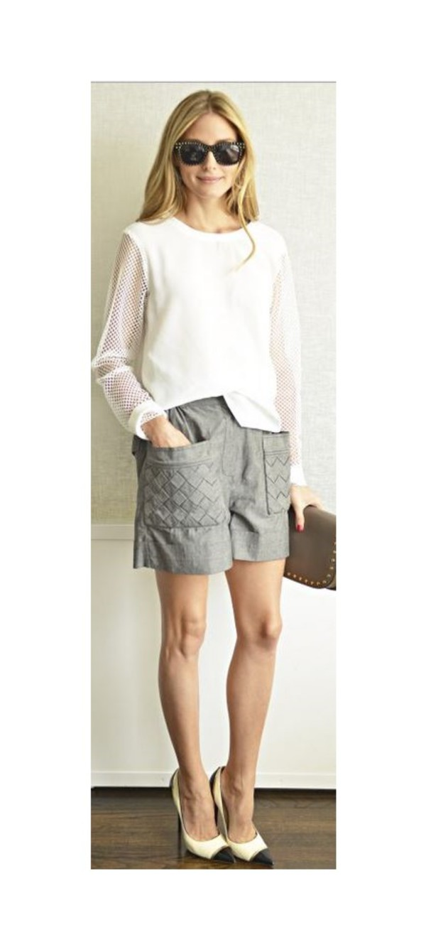 top olivia palermo shorts shoes