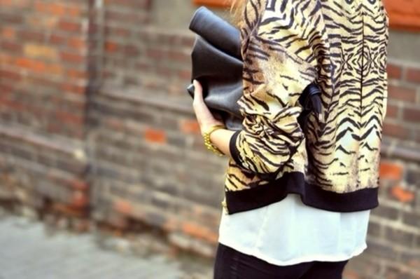 jacket bomber jacket animal print