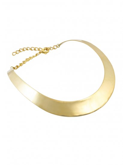 Vina Mirrored Collar Necklace in Gold - Rock 'N Rose from ROCK 'N ROSE UK
