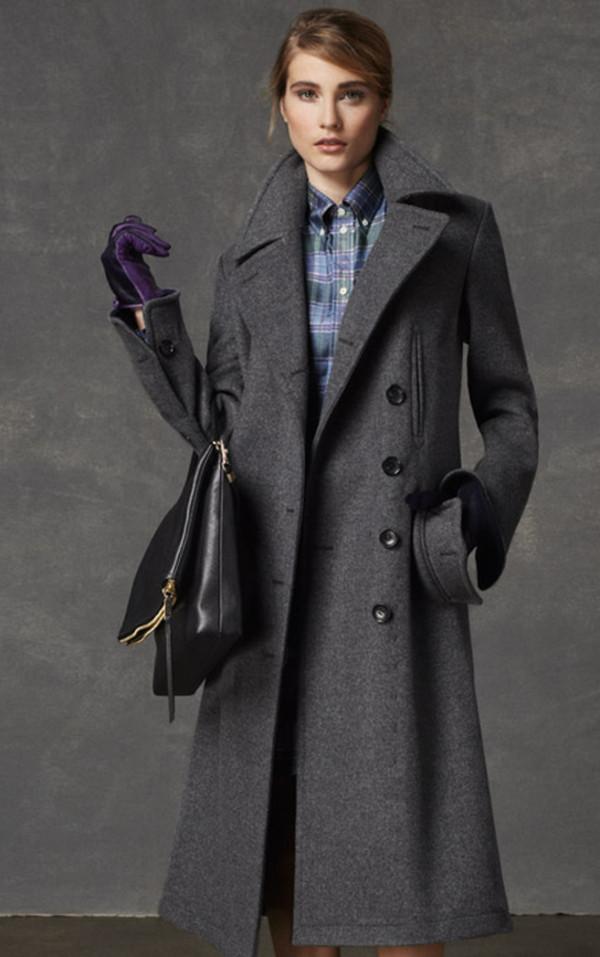 coat coach lookbook fashion dress scarf bag