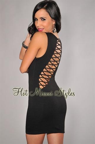 Black Open Cut-Out Dress
