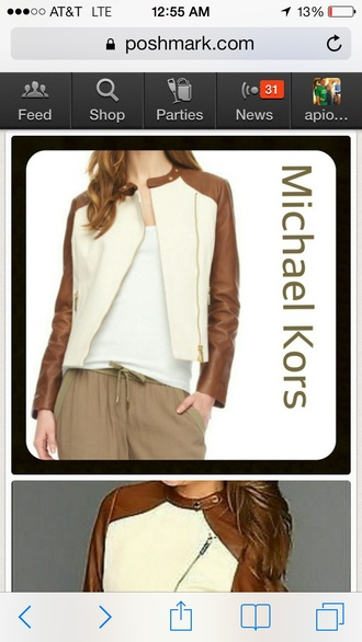 jacket motorcycle jacket michael kors leather jacket luggage