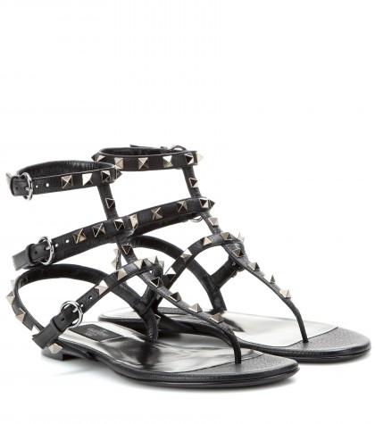 mytheresa.com -  Rocktsud leather sandals  - Flat - Sandals - Shoes - Luxury Fashion for Women / Designer clothing, shoes, bags