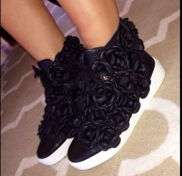 shoes sneakers black sneakers