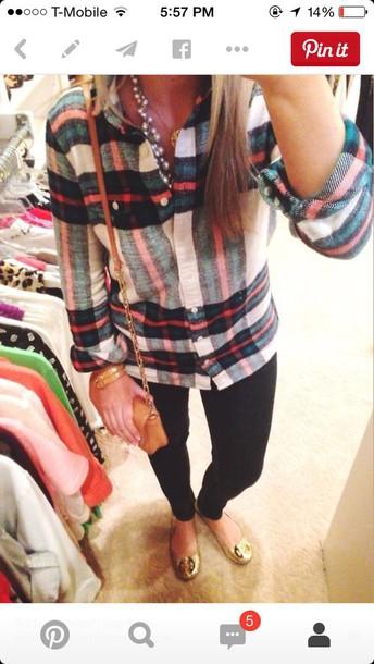blouse cute shirt flannel shirt plaid shirt