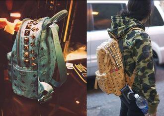 bag stud pretty leather blue cool backpack girl boy
