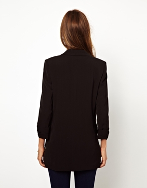 Warehouse | Warehouse Long Line Double Breasted Jacket at ASOS