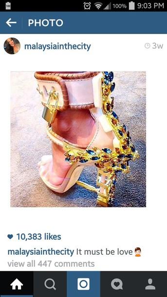 extravagant gold shoes