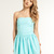 Womens - 50s Dress in Aqua | Superdry