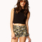 Cuffed camo print shorts   forever21 - 2049256958