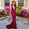 Skinny burgundy v neckline floor length evening dresses prom dresses pst0046