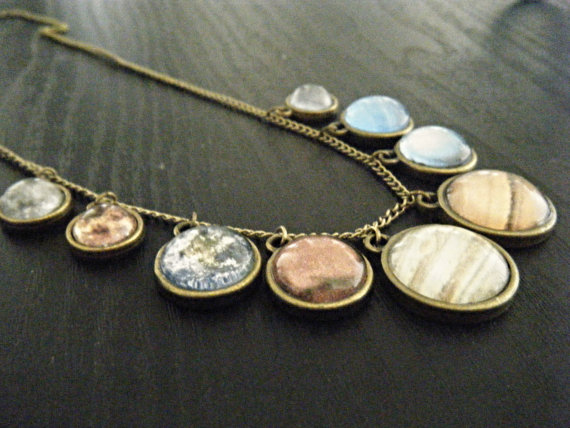 Solar System Planet Necklace by ProjectGreece on Etsy
