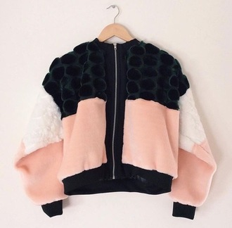 jacket fourrure fausse fourrure women bomber jacket black rose noir pink winter outfits spring automn hiver printemps automne fashion fermeture fermeture éclaire pom poms luxe classe tendance mouton blanc white luxury femme back to school working original velour