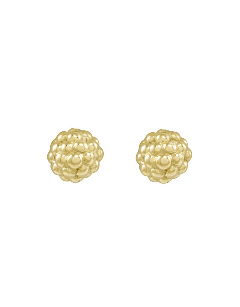 Gold Beaded Stud Earrings | Caviar Gold | LAGOS Jewelry