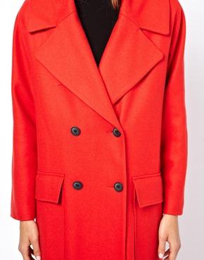 ASOS   ASOS Limited Edition Poppy Red Longline Coat at ASOS