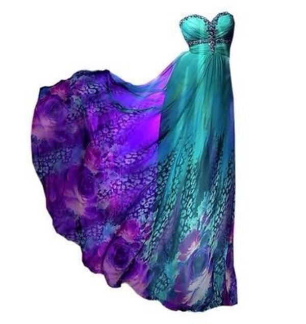 dress blue dress turquoise mermaid satin dress purple strapless