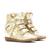 Authentic Isabel Marant Bird Metallic Wedge Sneakers In Gold [IM109027]