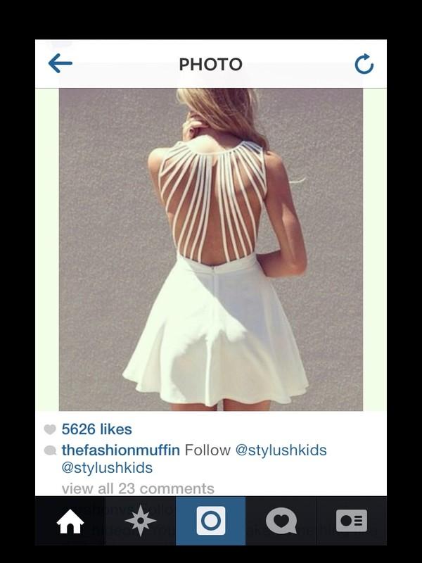dress cute dress backless dress backless white dress
