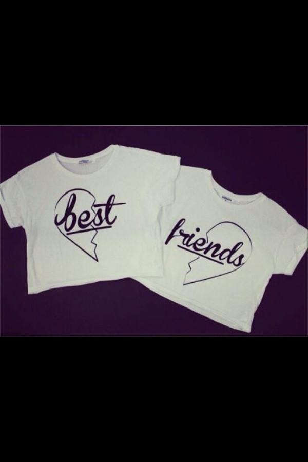 blouse double trouble cute friends t-shirt white shirt bff