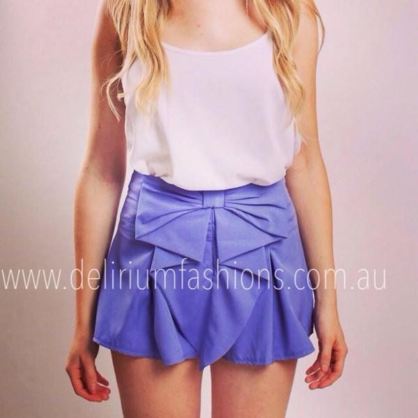 pants bow shorts pretty girly lilac