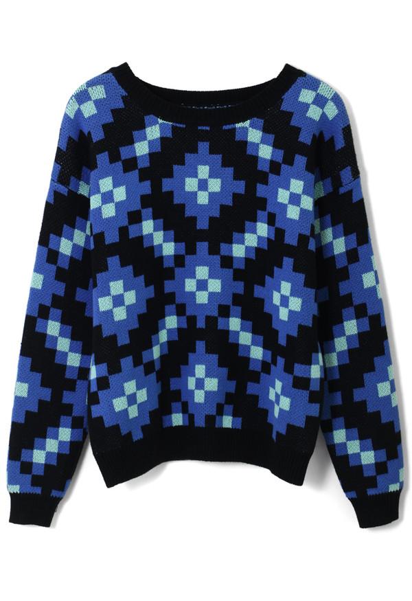sweater colorblock sparking