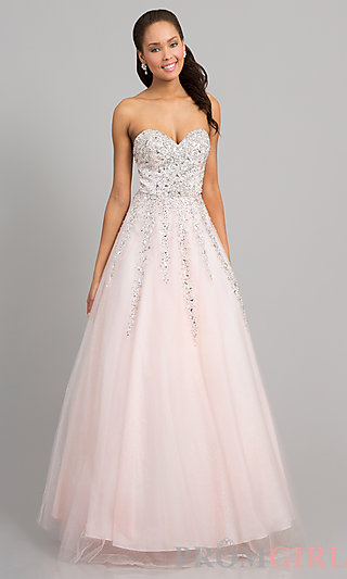 Prom Dresses, Celebrity Dresses, Sexy Evening Gowns - PromGirl: Floor Length Strapless Sweetheart Gown