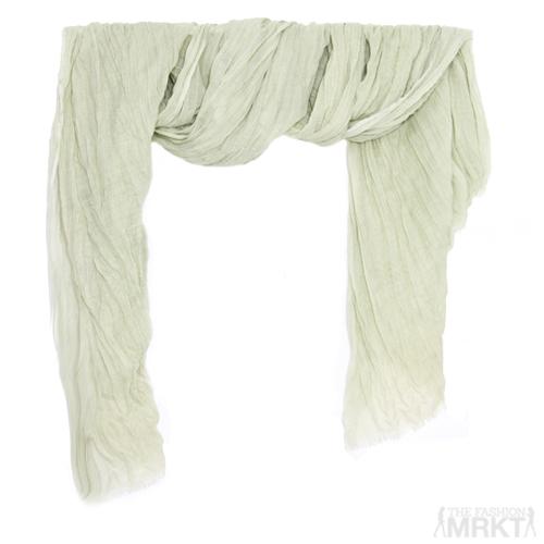 Tilo Bamboo Viscose Soft Crinkle Scarf in 'Grass' / TheFashionMRKT