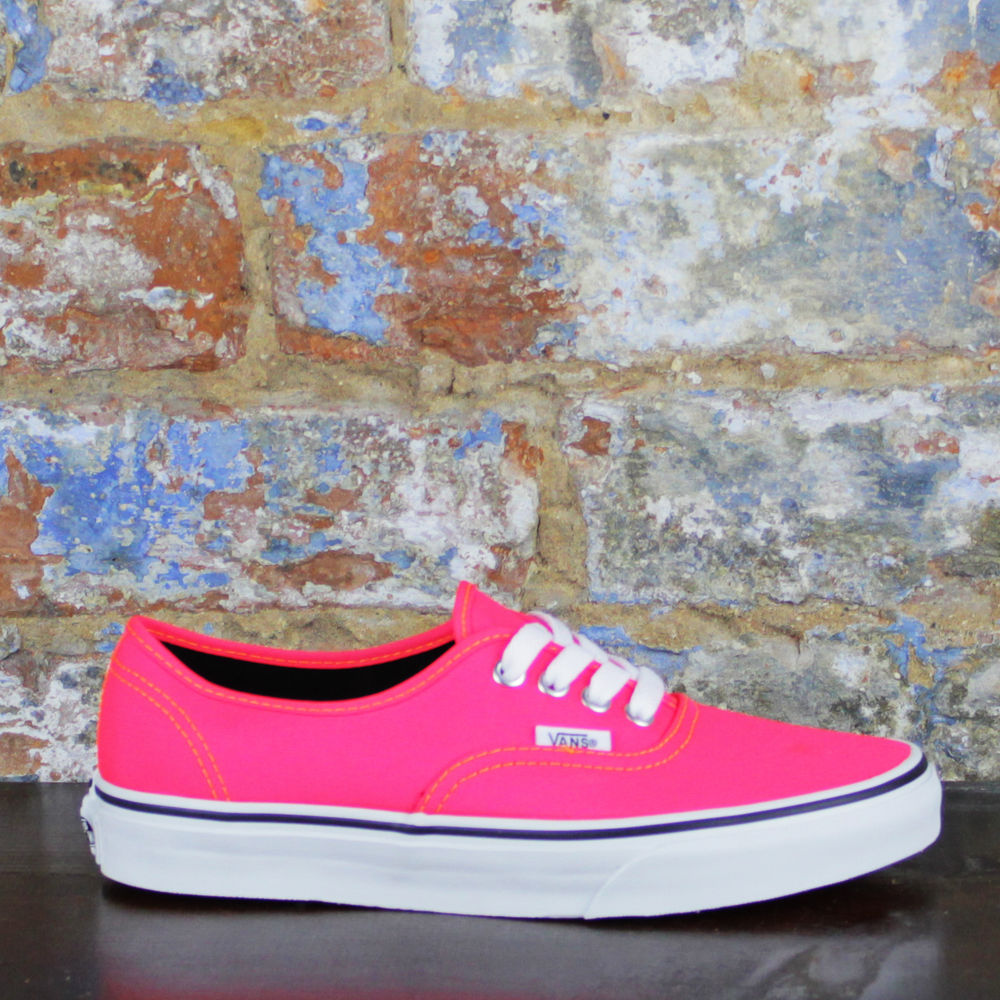 Vans Authentic Trainers Pumps Brand New in Box in Pink UK Size 3 4 5 6 7 | eBay