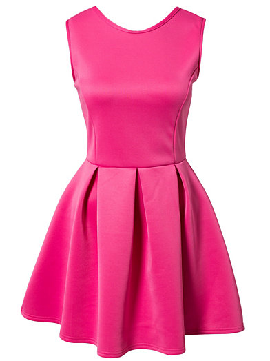 Bow Back Dress - Oneness - Pink - Party Dresses - Clothing - Women - Nelly.com Uk