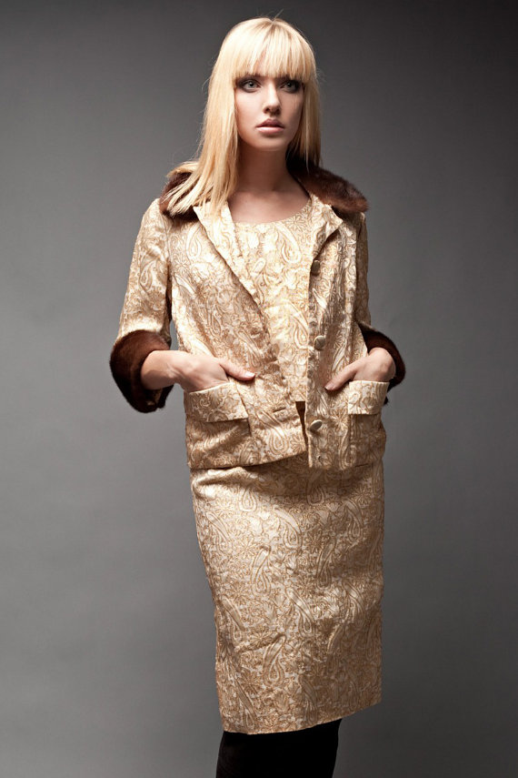 Vintage 50s Set 3Piece Skirt Sleeveless Top by shoprabbithole