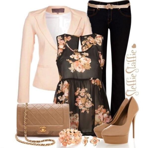 blouse floral tank top