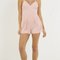 Strappy front simple romper
