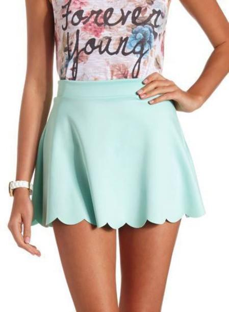 skirt perfect mint trendy skater skirt mini skirt