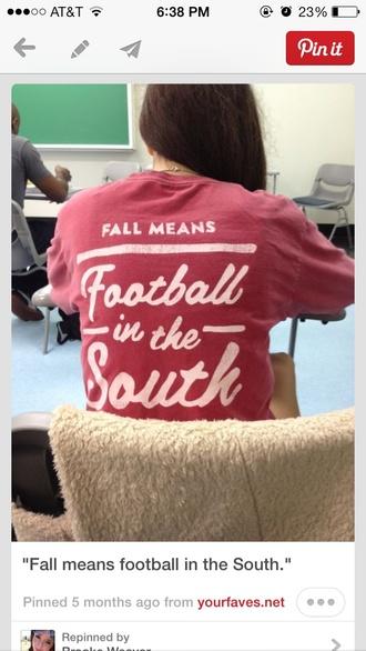 t-shirt fall outfits football football shirts pink pinterest shirt south