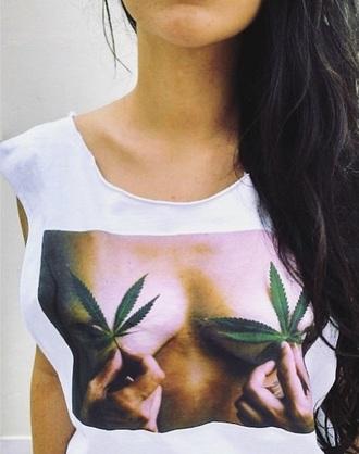 shirt marijuana sexy boobs weed weed shirt