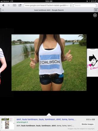 shirt one direction louis tomlinson xfactor toms music skirt