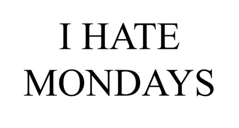 I Hate Mondays Vest Top Or T Shirt | Cheap Funny T Shirts ~  Pop Culture T Shirts ~ Baby Onesies ~ Xray Skeleton Baby Tops ~ Funny Maternity Tops