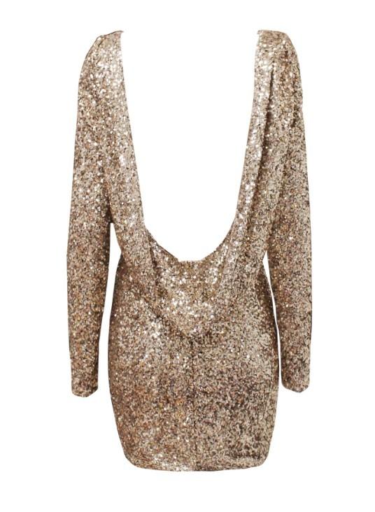 Chanelle Dress – Gold |  D.M. Retro