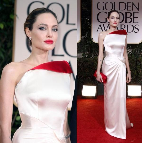 dress angelina jolie elegant dress evening dress