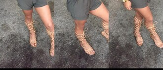 shoes sandals leather sandals strappy sandals nude sandals knee high gladiator sandals gladiators