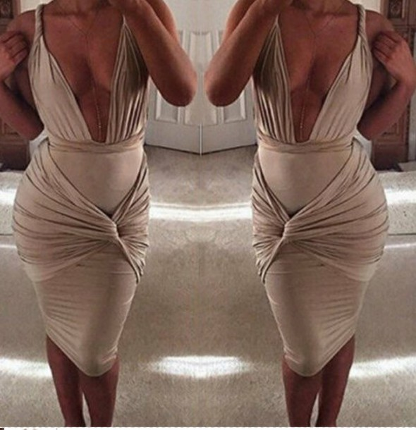 dress champagne dress