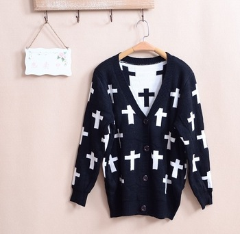 New 2014 European and American popular cross sweater cardigan sweater women-in Sweaters from Apparel & Accessories on Aliexpress.com