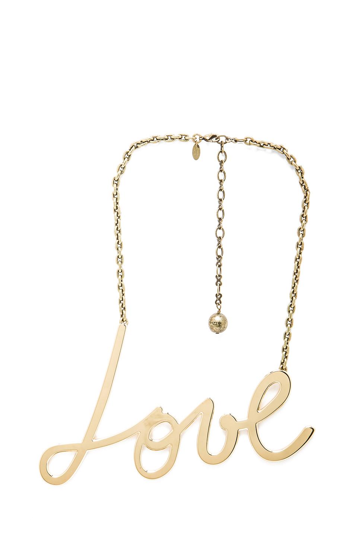 Lanvin Love Pendant in Gold
