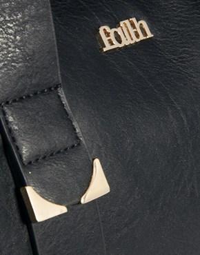 Faith   Faith Metal End Barrel bag at ASOS