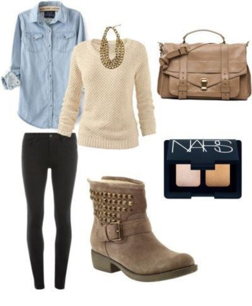 shoes brown leather boots flats flatforms studded shoes