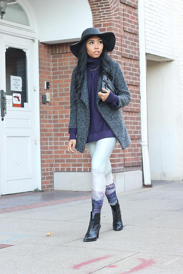 fashion of a novice sweater pants coat shoes hat bag