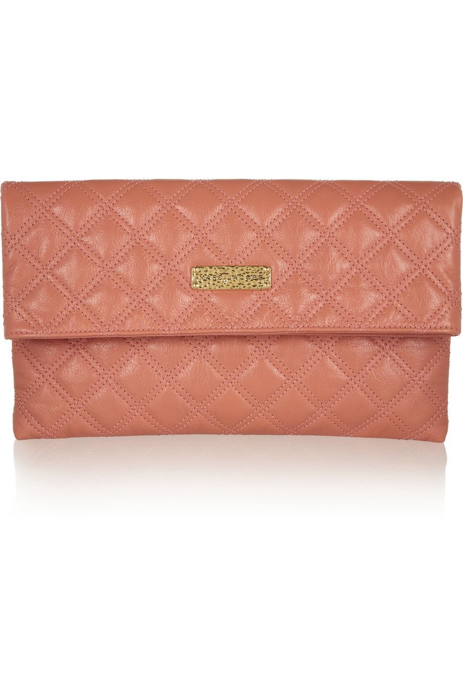 Eugenie large quilted leather clutch | Marc Jacobs | THE OUTNET