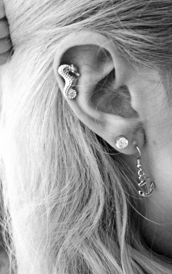 jewels earrings anchor earrings anchor seahorse seahorse earrings